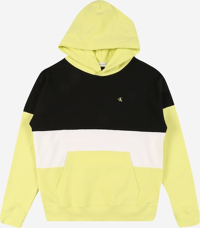 Calvin Klein Jeans Sweatshirt in neongelb / schwarz / weiß, Produktansicht