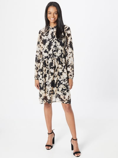 ICHI Shirt Dress 'Ihruga' in Beige / Black / White, View model