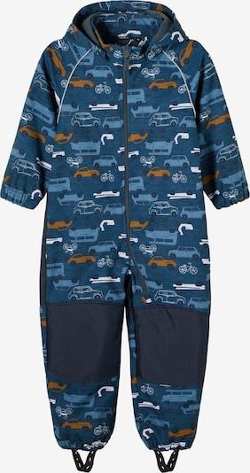NAME IT Costume fonctionnel 'Alfa' en bleu marine / bleu fumé / jaune / gris, Vue avec produit