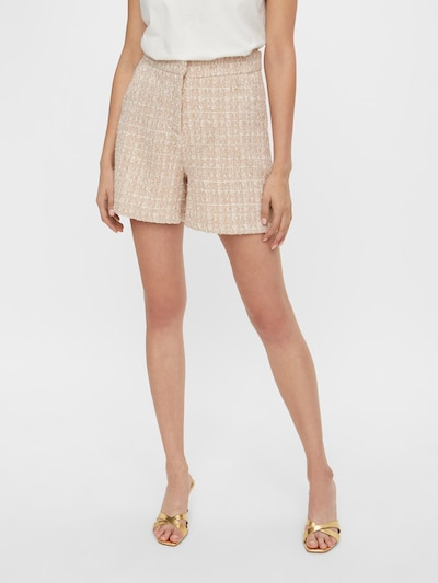 Y.A.S Broek 'Klarina' in de kleur Rosa / Oudroze / Wit, Modelweergave