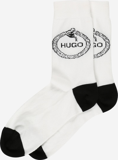 Șosete 'UROBOROS' HUGO pe negru / alb, Vizualizare produs