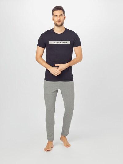 JACK & JONES Duga pidžama u siva, Prikaz modela
