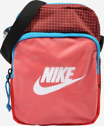 Nike Sportswear Bolso de hombro 'Heritage 2.0' en aqua / rojo / negro / blanco, Vista del producto