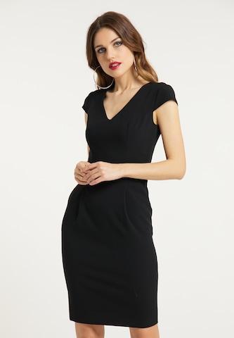 faina Sheath Dress in Black