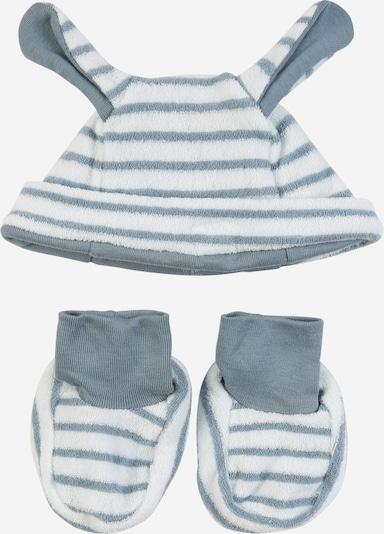 PETIT BATEAU Set Mütze und Stiefeletten in grau / weiß, Produktansicht