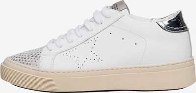 NOCLAIM Sneakers laag 'ANDREA 2' in de kleur Zilver / Wit, Productweergave