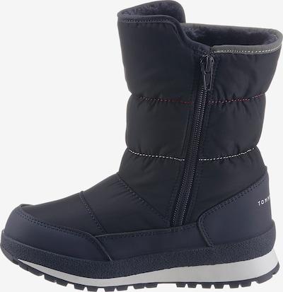 TOMMY HILFIGER Snowboots in dunkelblau / rot / weiß, Produktansicht