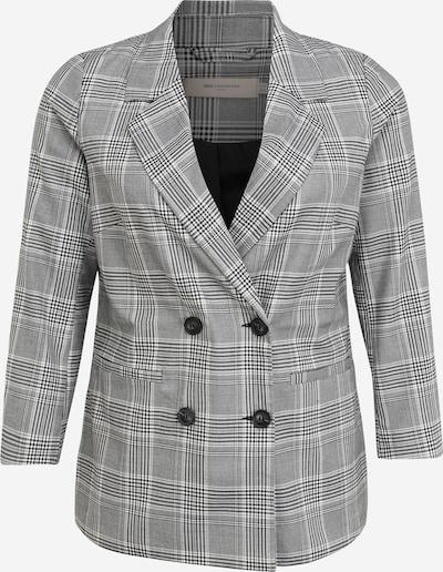 ONLY Carmakoma Blazer in grau / schwarz / weiß, Produktansicht