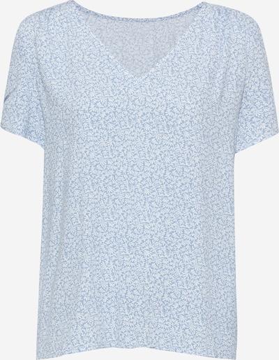 EDC BY ESPRIT Bluse in rauchblau / weiß, Produktansicht
