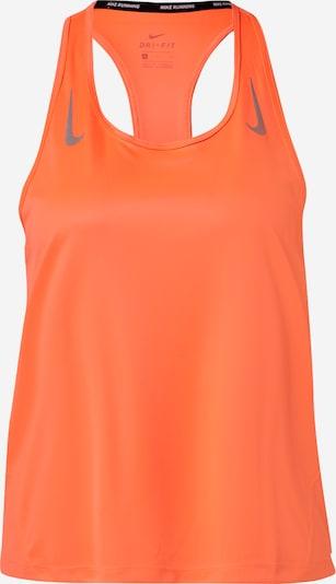 NIKE Haut de sport 'Miler' en gris / orange fluo, Vue avec produit