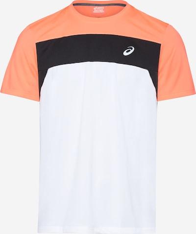 ASICS T-Shirt in orange / schwarz / weiß, Produktansicht