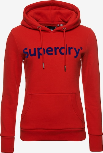 Superdry Sweatshirt 'Registered Flock' in enzian / rot, Produktansicht
