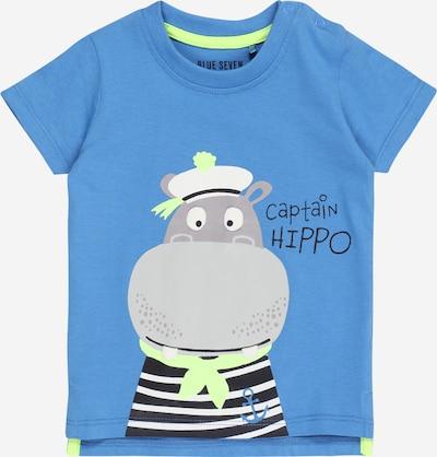 Marškinėliai iš BLUE SEVEN , spalva - mėlyna / pilka / žaliosios citrinos spalva, Prekių apžvalga