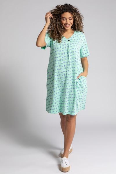 Ulla Popken Kleid in blau / pastellgrün, Modelansicht