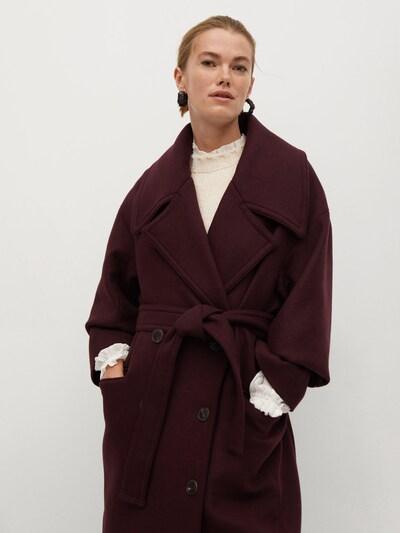 MANGO Manteau mi-saison 'Granada' en rouge foncé, Vue avec modèle