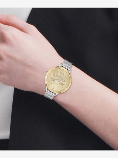 BOSS Casual Analog Watch in Gold / Silver: Frontal view