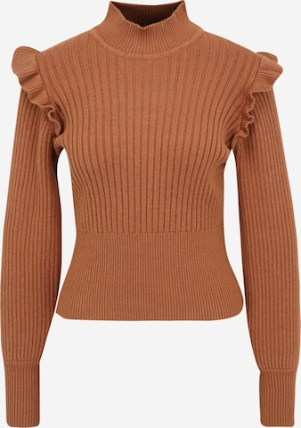 OBJECT Petite Pullover 'Diva' in Brown