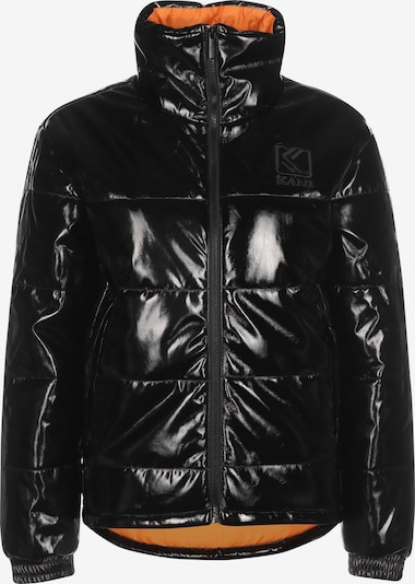 Karl Kani Winterjas ' Glossy Puffer ' in de kleur Zwart, Productweergave