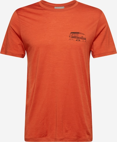 Icebreaker Sporta krekls 'THE GOOD LIFE' tumši oranžs / melns, Preces skats