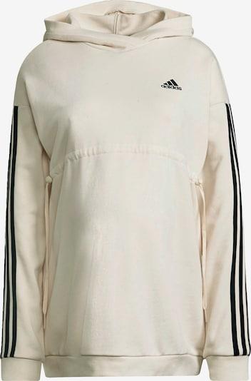 ADIDAS PERFORMANCE Sweat de sport en noir / blanc cassé, Vue avec produit