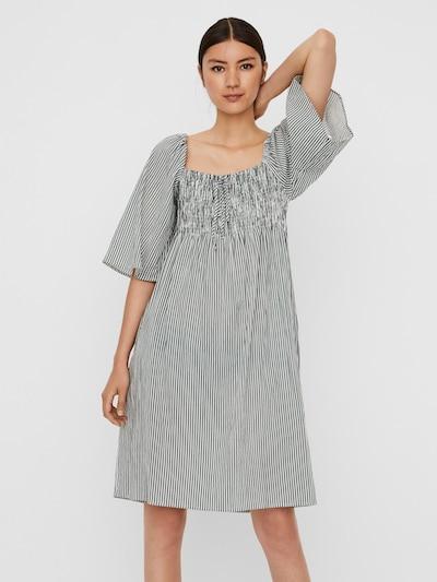 VERO MODA Kleid 'Annabelle' in grün / weiß, Modelansicht