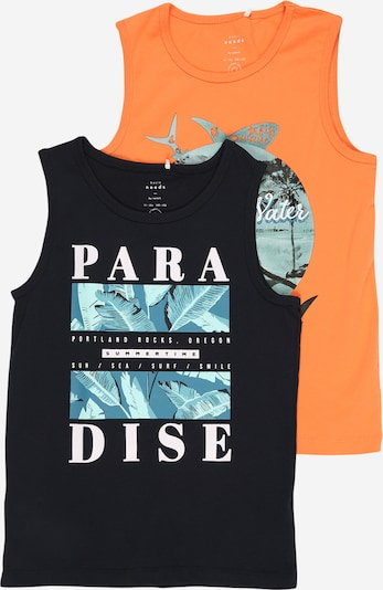 NAME IT T-Shirt 'VAGNO' en bleu clair / orange / noir / blanc, Vue avec produit