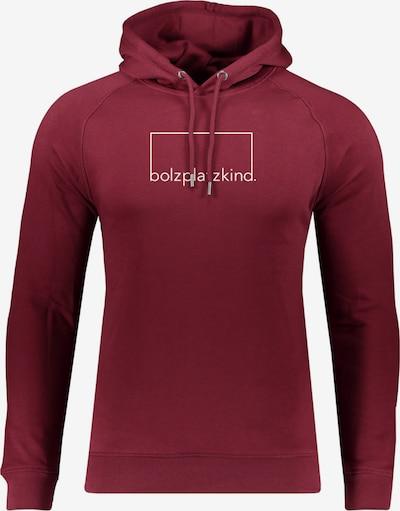Bolzplatzkind Sweatshirt in merlot / weiß, Produktansicht