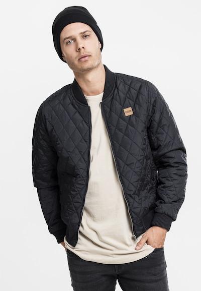 Urban Classics Jacke 'Diamond Quilt' in braun / schwarz: Frontalansicht