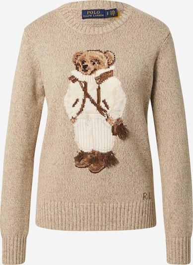 Polo Ralph Lauren Пуловер в бежово меланж / кафяво / капучино / бяло, Преглед на продукта