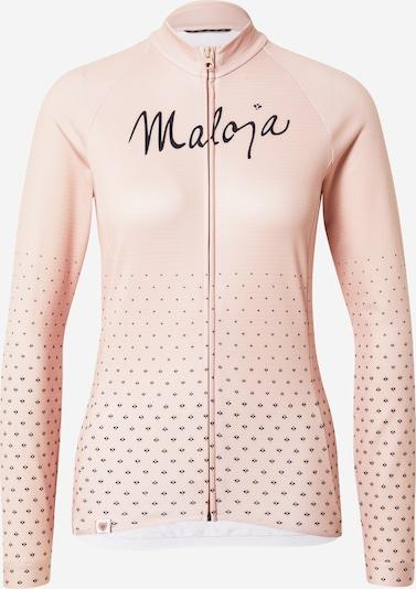 Maloja Sportjacke 'Haslmaus' in rosa / schwarz, Produktansicht