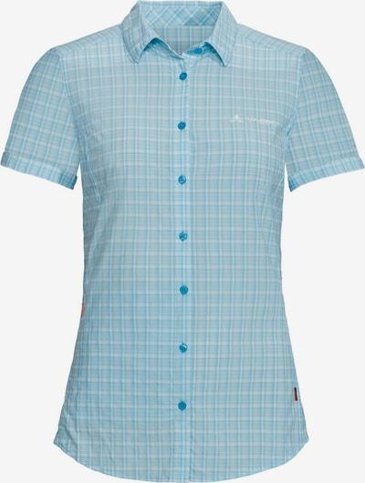 VAUDE Multifunctionele blouse in de kleur Hemelsblauw / Lichtblauw / Wit, Productweergave