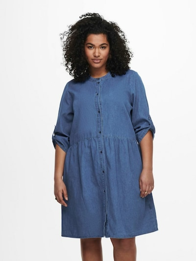 ONLY Carmakoma Kleid in blue denim, Modelansicht