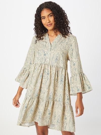Storm & Marie Košilové šaty 'Saga' - béžová / zelená, Model/ka