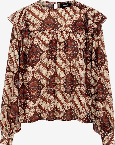 OBJECT Blouse 'Griva' in de kleur Rood / Wit, Productweergave