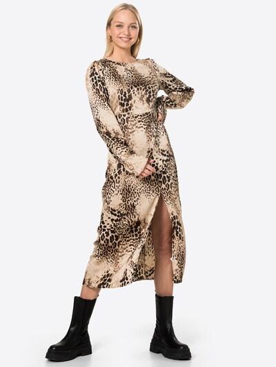 Missguided Kleid in braun / hellbraun / schwarz, Modelansicht