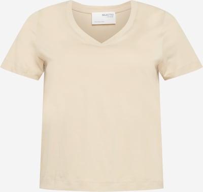 Selected Femme Curve Shirt 'Andard' in de kleur Beige, Productweergave
