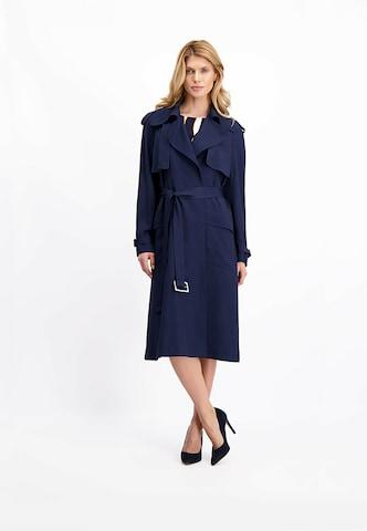 Lavard Between-Seasons Coat in Blue