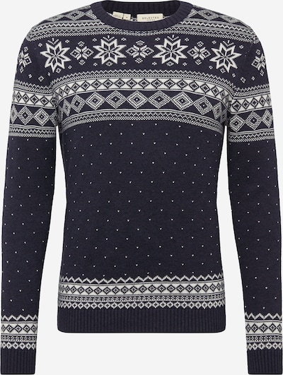 SELECTED HOMME Trui in de kleur Donkerblauw / Offwhite, Productweergave
