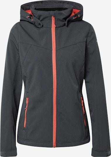 ICEPEAK Outdoor jakna 'BRENHAM' u tamo siva / koraljna, Pregled proizvoda