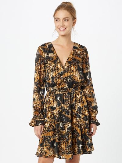 SCOTCH & SODA Kleid in beige / braun / schwarz / weiß, Modelansicht