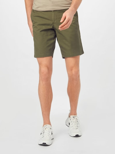 TOMMY HILFIGER Pantalon 'Brooklyn' en bleu marine / olive / rouge feu / blanc, Vue avec modèle