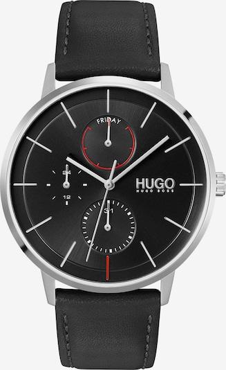 HUGO Analog Watch in Black / Silver, Item view
