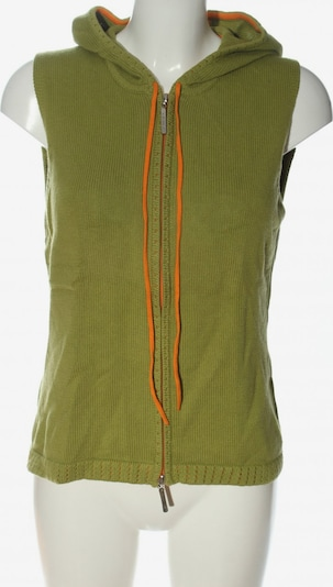 KAPALUA Strickweste in L in grün / hellorange, Produktansicht