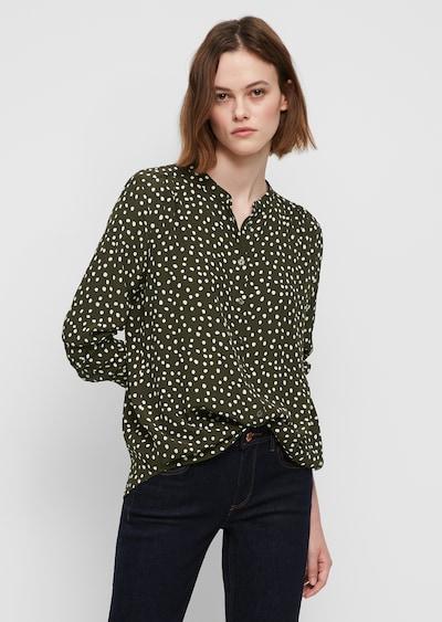 Marc O'Polo DENIM Bluse in grün / weiß, Modelansicht
