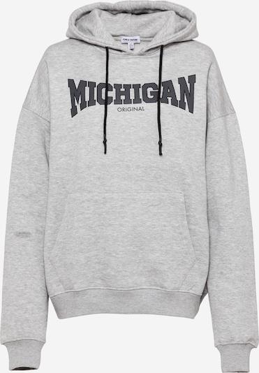 Public Desire Sweatshirt 'MICHIGAN' in hellgrau / dunkelgrau / schwarz, Produktansicht