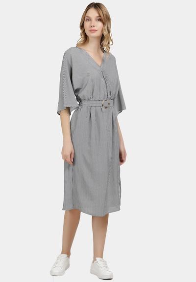DreiMaster Maritim Kleid in marine / weiß, Modelansicht