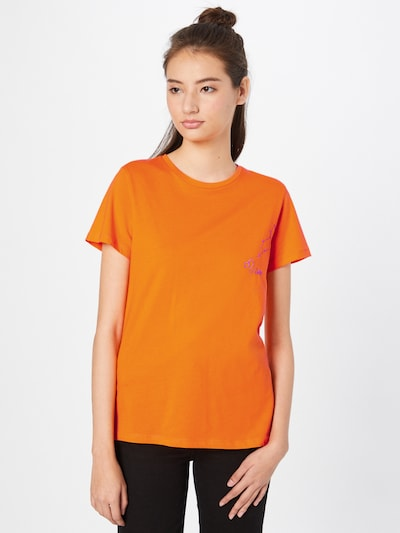 Trendyol T-shirt i indigo / orange: Sedd framifrån