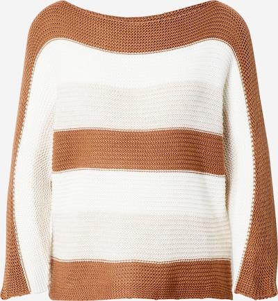 Hailys Pullover 'Alina' in braun / grau / weiß, Produktansicht