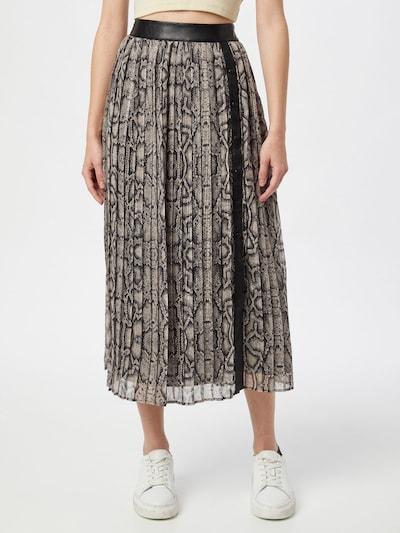 LIU JO JEANS Skirt 'GONNA LUNGA' in Beige / Black: Frontal view