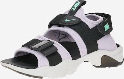 Nike Sportswear Sandales de randonnée 'Canyon' en bleu foncé / violet clair, Vue avec produit